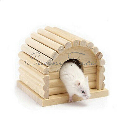New Wood House Hamster Small Animals Special Suit For Hamster Sleeping Playing チ