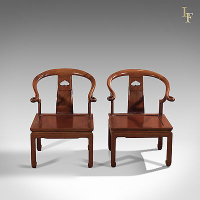 Pair of Chinese Chairs, Mid Century George Zee & Co. Ltd, Hong Kong