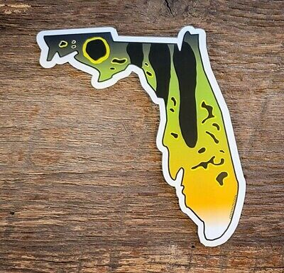 PEACOCK BASS Stickers STATE CUT-OUTS fishing FL fly fishing DECALS Florida