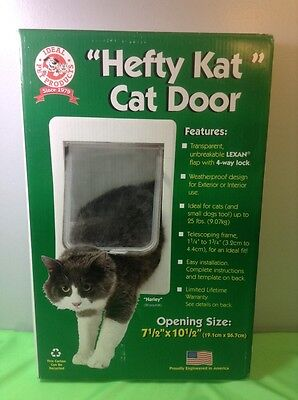 """Ideal Pet Products Hefty Kat Cat Door Opening Size 7.5"""" By 10.5"""""""