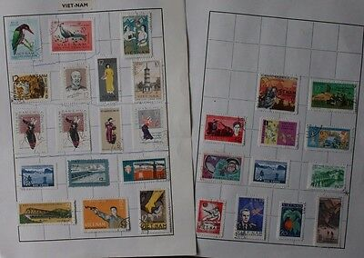 VIETNAM  -  selection on 2 pages from an old collection