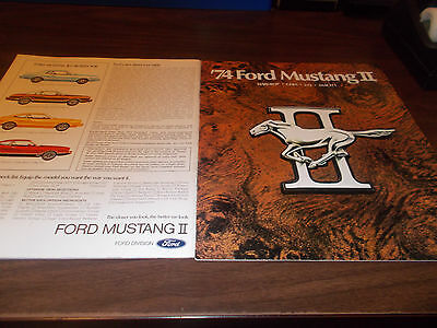 1974 Ford Mustang II 20-page Sales Catalog