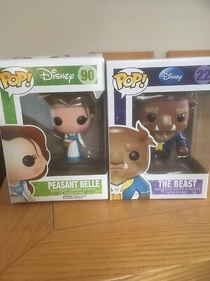 Funko POP Disney Beauty And The Beast THE BEAST 22 PEASANT BELLE 90