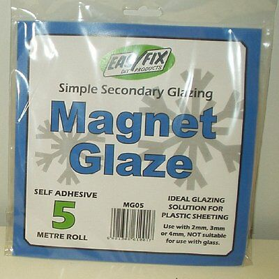 New Easyfix 5m Magnet Glaze Simple Secondary Glazing