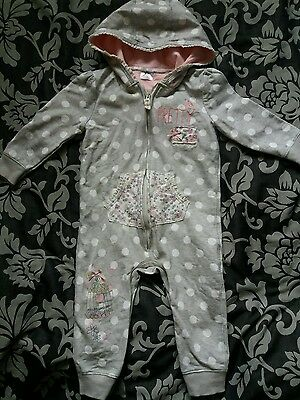 baby girl all in one coat 9 -12 months
