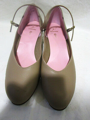 "Capezio+Style 9806+Women's+2"" Flared Heel+Tap Shoes+Tan+Size 10.5 M"