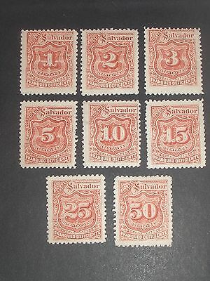 early Salvador stamps mint (i do combine p&p) A