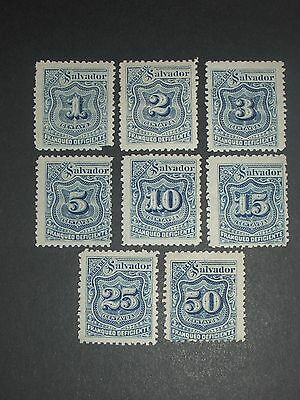 early Salvador stamps mint (i do combine p&p) C