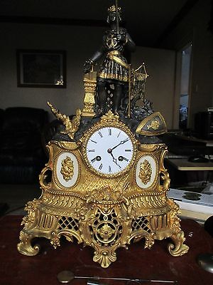 19th Century French about 1850,s . Richard the lion heart . Ormolu mantle clock.