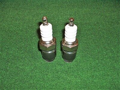 vintage novelty salt and pepper spark plugs classic car,camping