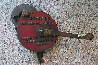 Old Keystone Railroad tool grinder, trains, hardware, collectible