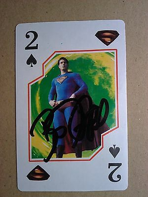 Brandon Routh from Superman Returns autographed playing card genuine with COA