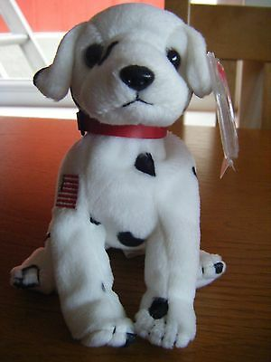 Ty Beanie Baby 'Rescue' the Dalmatian dog, with tag, collectable. To honour 9/11