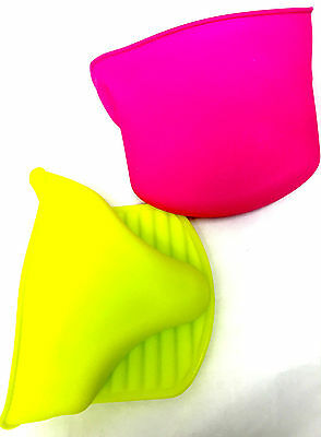 Kitchen Oven Heat Glove Resistant Silicone Pot Holder Baking BBQ Cook Mitts