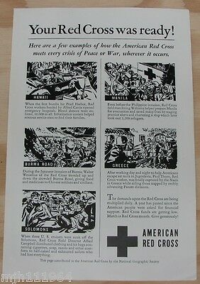 1940's American Red Cross WWII advertisement