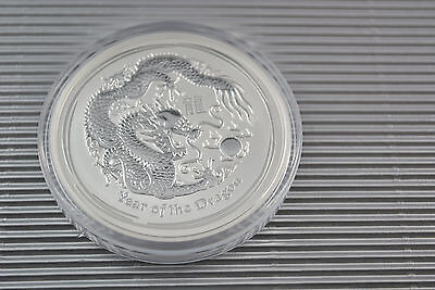 2012 5 oz Silver Australian Year of the Dragon Coin *