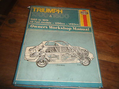 Haynes Manual For Triumph 1300 & 1500. 1965 To 1974.