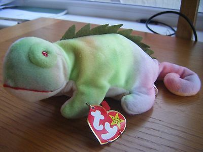 Ty Beanie Baby 'Iggy' the Iguana (1997), with tag, collectable