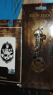 Twilight Saga New Moon Bag Clip A And New Moon Removable Reusable Stickers New!