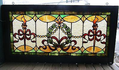 Victorian Stained Glass Window With Jewels