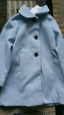 H&M winter Girls coat jacket jumper, 4 5  years, wool. Bnwt next day post