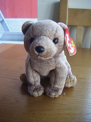 Ty Beanie Baby 'Pecan' the Bear (1999), with label, great condition, collectable