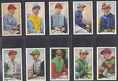 2 Full Sets Of Horse Racing Theme Cigarette Cards