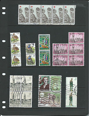 Belgium Multiple Selection of Commemoratives/Definitives.Used.