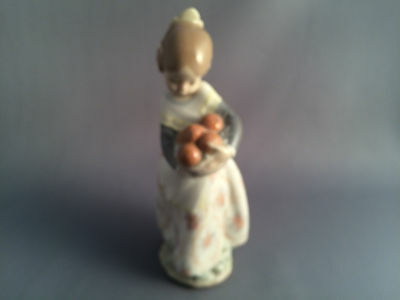 Lladro Valencia Girl with Oranges Figure.