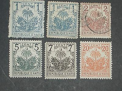 early Haiti stamps mint & used (i do combine p&p) B
