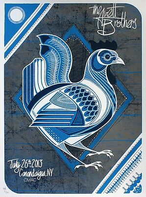 The Avett Brothers 2013 Poster CMAC Canandaigua New York Signed & Numbered #/200