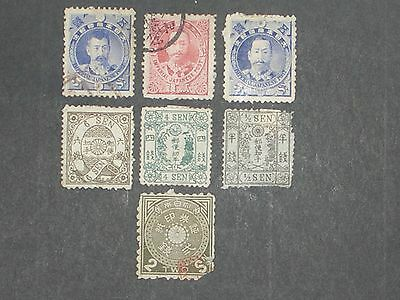 early Japan stamps mint & used (i do combine p&p)