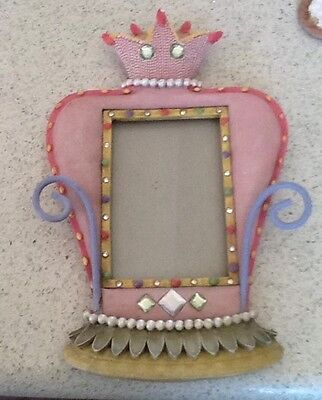 New Pink Crown Blinged Picture Frame Crown Girl Bombay Kids
