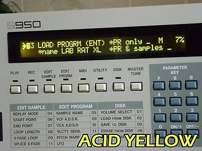 New High Contrast Display Kit For Akai S900 S950 Sampler Easy Install No Solder