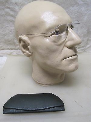 Antique Steampunk 12K Gold Filled Spectacles Reading Glasses A5639