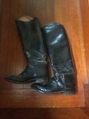 old used english tall riding boots- womans 9 1/2