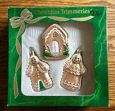 ViNTAGE CHRISTMAS TRIMMERIES HAND DECORATED GINGERBREAD ORNAMENTS BRADFORD