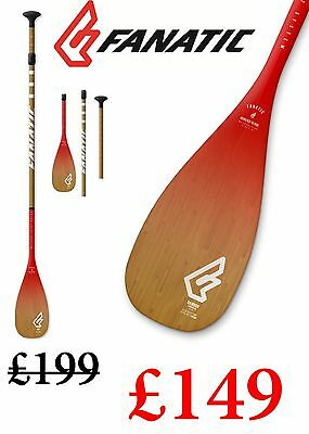 Fanatic 50% Carbon Bamboo SUP Stand Up Paddleboard Paddle 3pcAdjustable SAVE £50