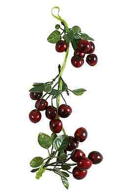 Cherry Artificial Bunch Branch Decorative Garden Indoor Hanging Plastic Fruit