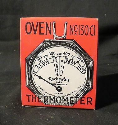 Vintage Rochester Oven Thermometer, Baking Roasting and Broiling Unopened