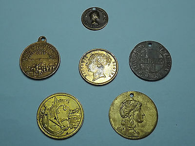 Collection Of Mixed Medals Medallions Badges Tokens