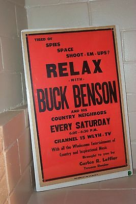 """Mid-Century Buck Benson Tv Show 24"""" X 14"""" Poster – Wlyh Tv South Central Pa"""