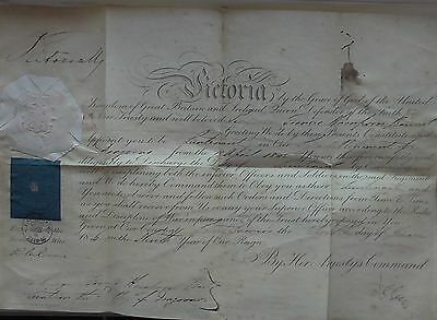 Queen Victoria Hand Signed Autograph Commission Warrant Document Royal Seal 1846
