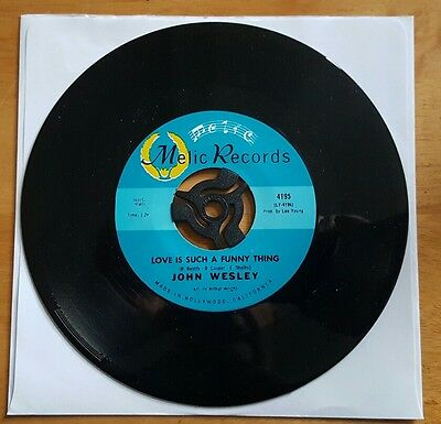 "Rare Northern Soul 7"" Vinyl Single. John Wesley - Love Is Such A Funny Thing."