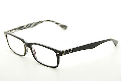 New Authentic Ray Ban RB 5162 2262 Black/Grey Marble 54mm Frames Eyeglasses RX
