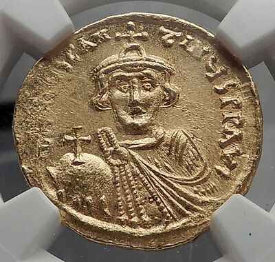 CONSTANS II Pagonatos 641AD Gold Solidus Byzantine NGC Certified MS Coin i58165