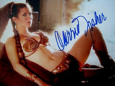 Carrie Fisher Signed Autograph Photo. Star Wars. Jedi. Leia. Empire Strikes Back