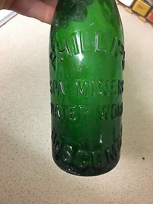 old green glass bottle phillips spa mineral water works boscombe