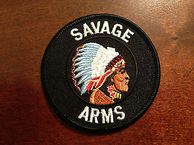 Savage Arms Indian Head Logo PATCH Shooting Gun Rifle Edge Accu trigger sticker