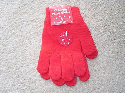 childrens magic goves ,in red . one size.